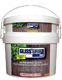GLISS'GRIP Wood, Anti-slip treatment for wooden surfaces