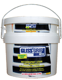 GLISS'GRIP Metal, Anti-slip treatment for metallic surfaces